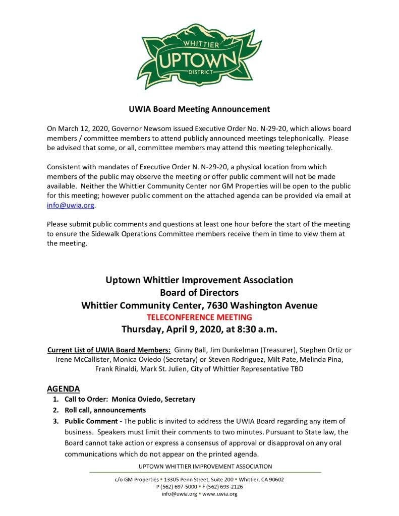thumbnail of UWIA Board Meeting Agenda Packet 04-09-2020