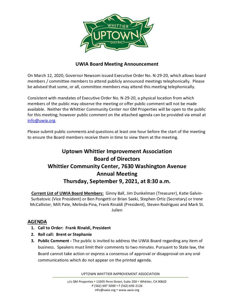 thumbnail of UWIA Board Meeting Agenda Packet 09-09-2021