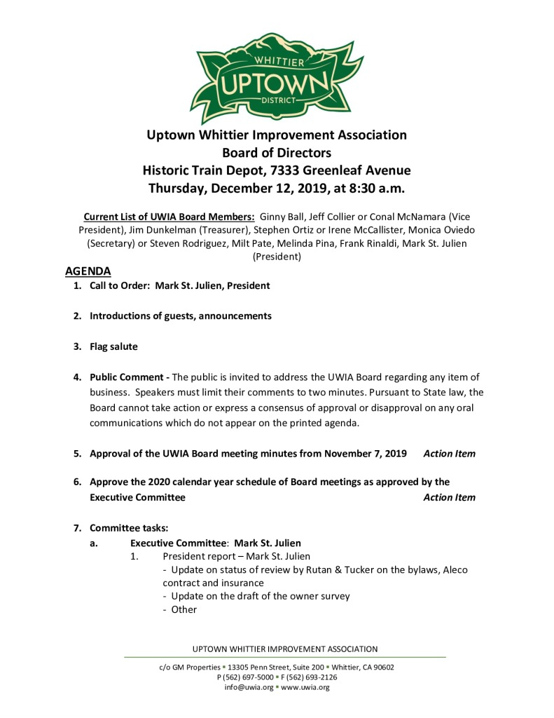 thumbnail of UWIA Board Meeting Agenda Packet 12-12-2019
