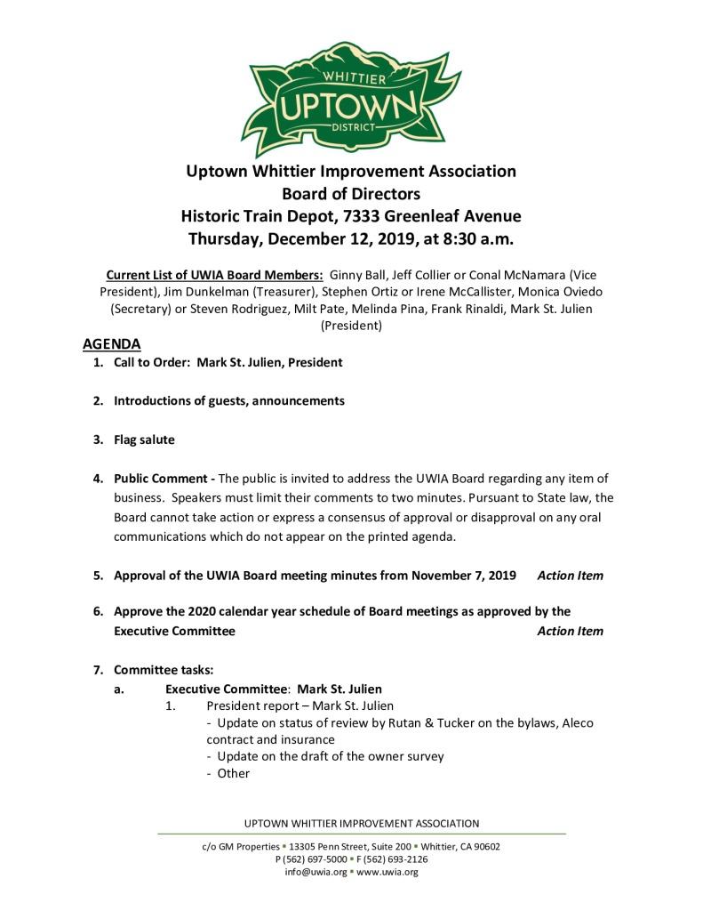 thumbnail of UWIA Board Meeting Agenda Packet 12-12-2019