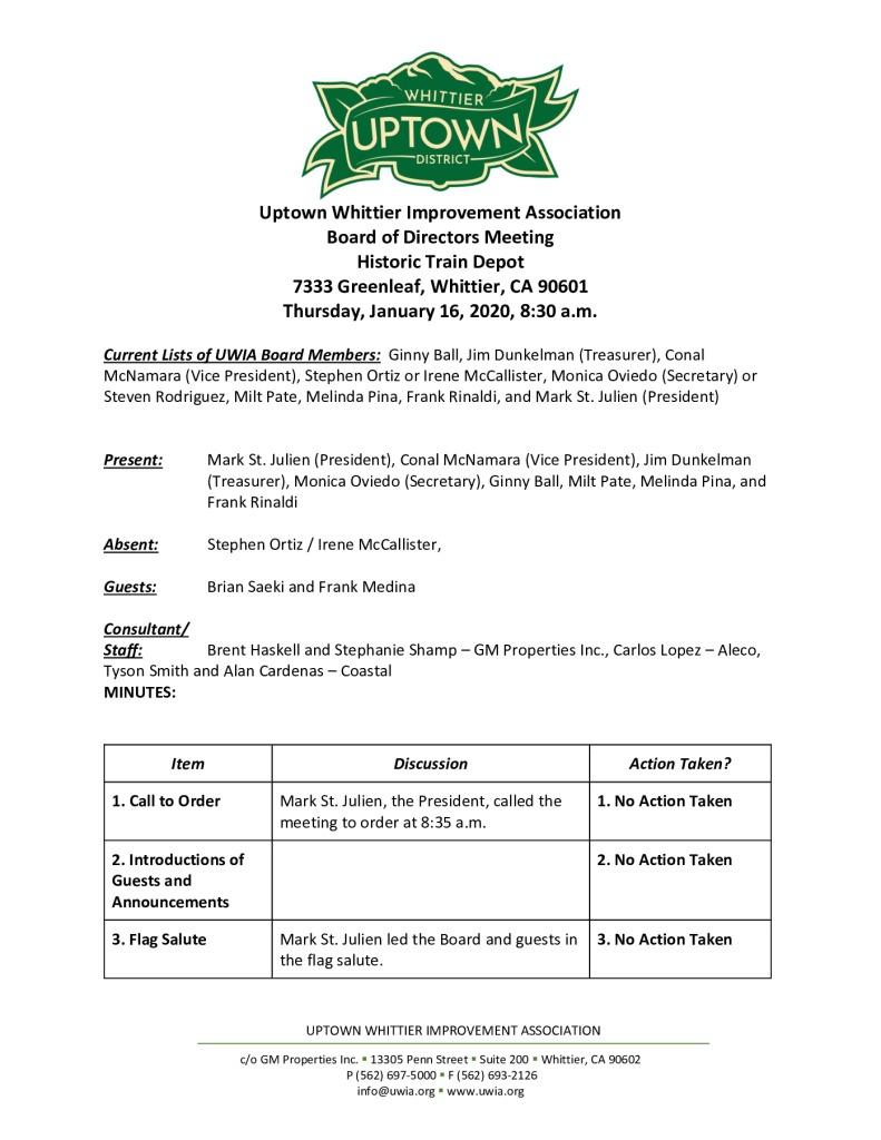 thumbnail of UWIA Board Meeting Minutes 01-16-2020 final