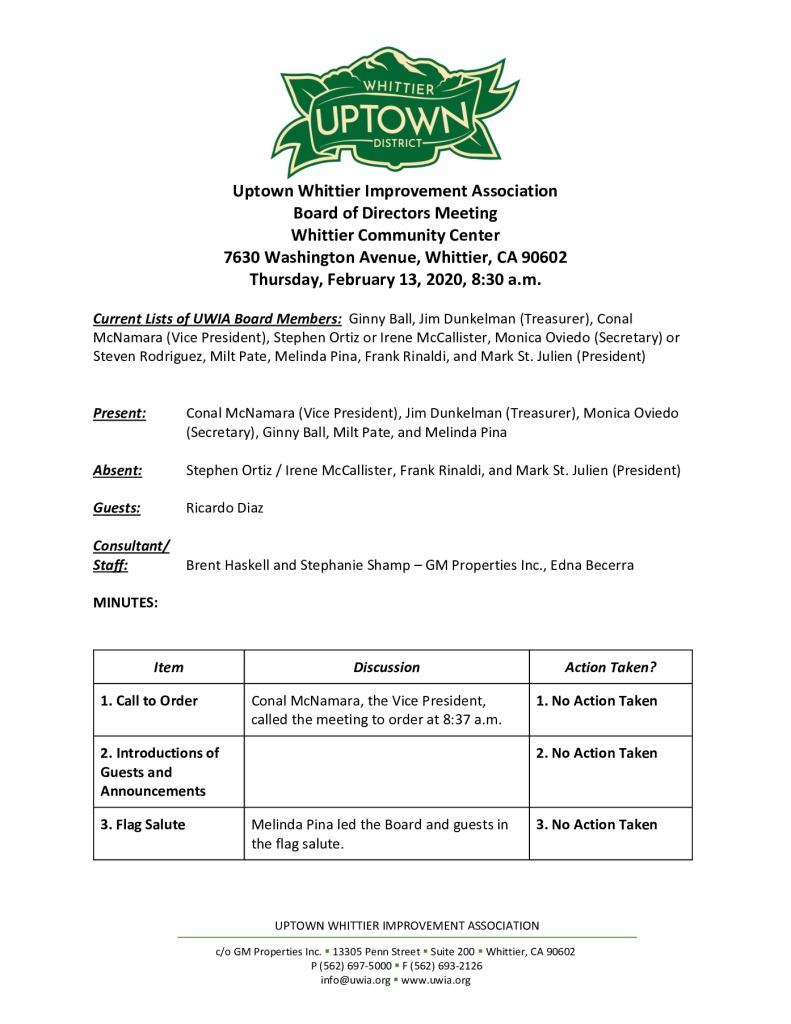 thumbnail of UWIA Board Meeting Minutes 02-13-2020 final