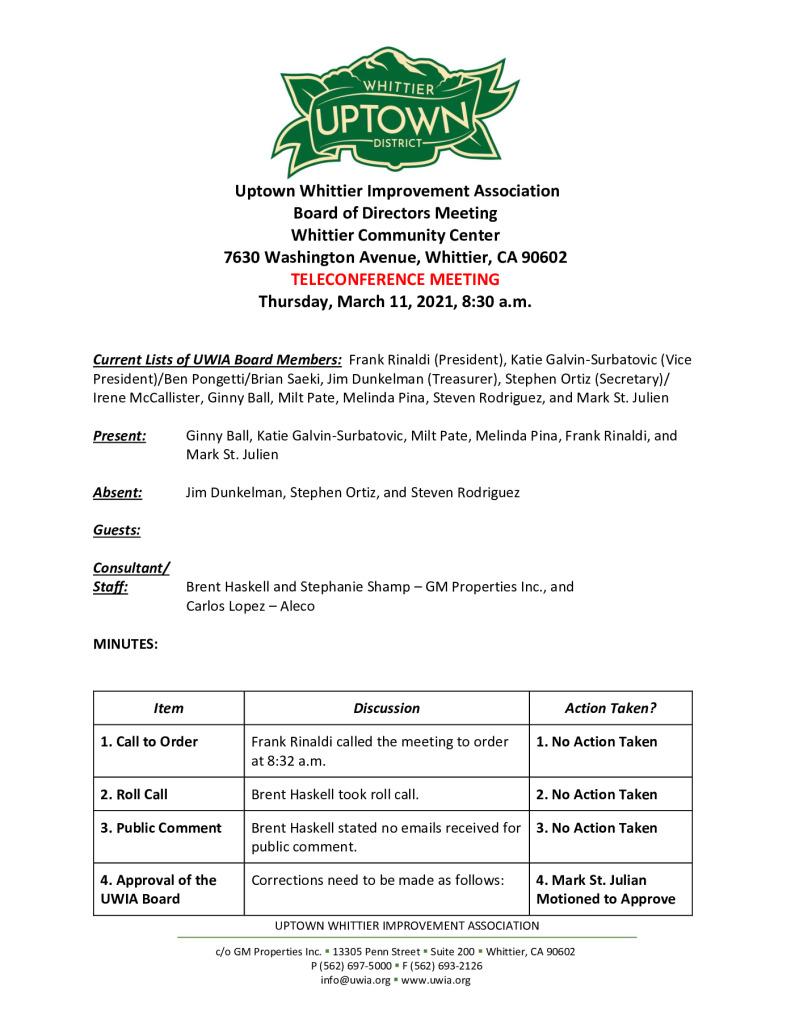 thumbnail of UWIA Board Meeting Minutes 03-11-2021 final