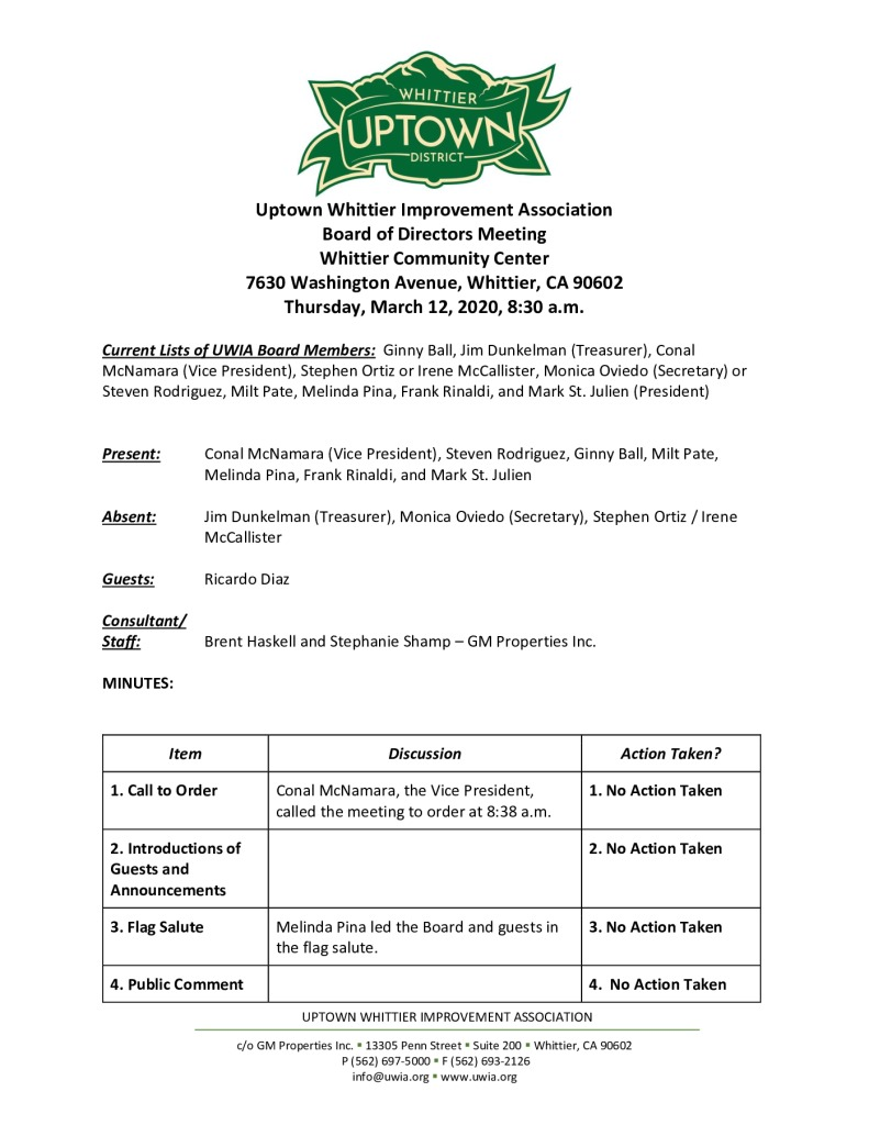 thumbnail of UWIA Board Meeting Minutes 03-12-2020 final