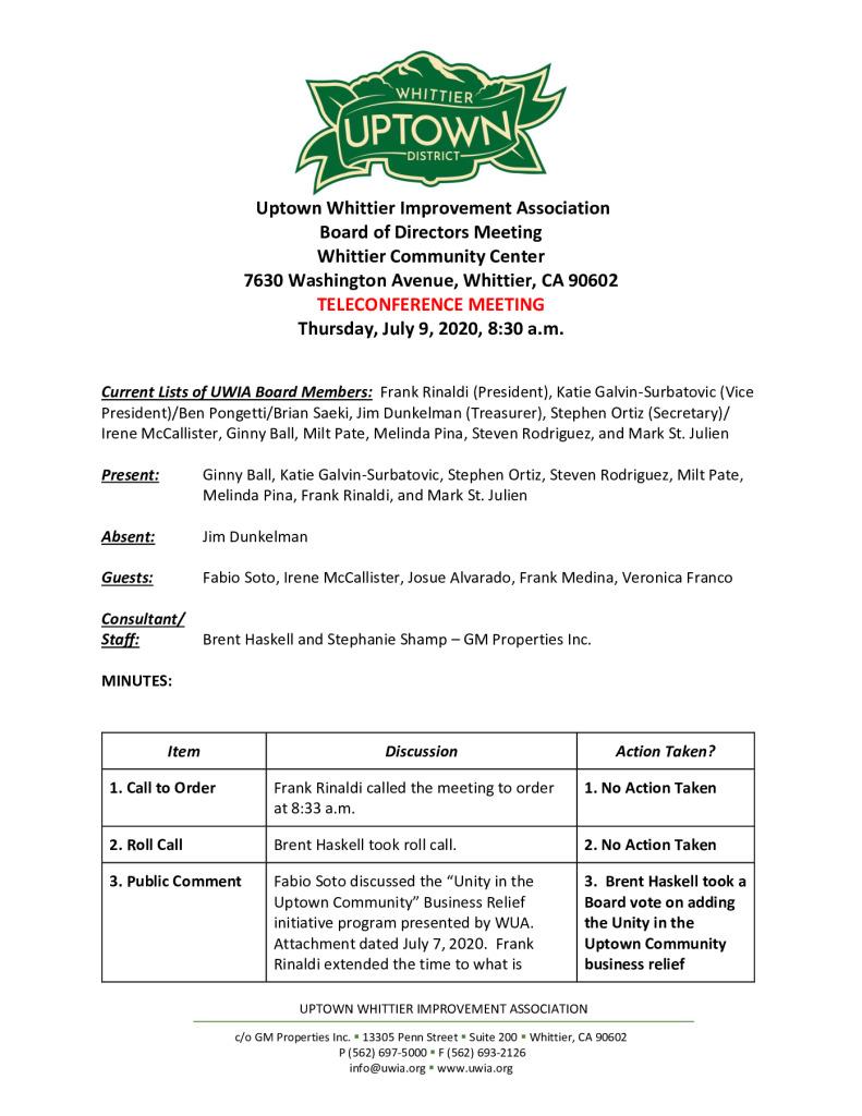 thumbnail of UWIA Board Meeting Minutes 07-09-2020 final