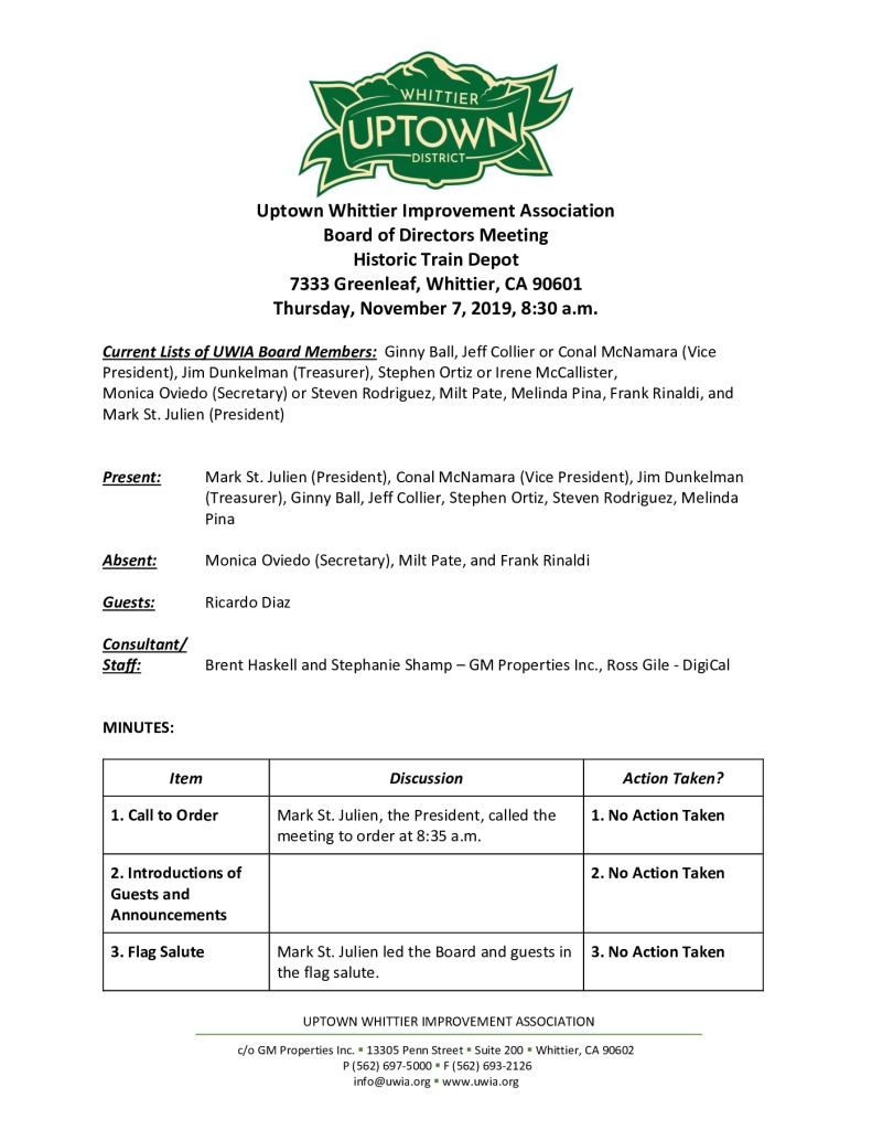 thumbnail of UWIA Board Meeting Minutes 11-07-2019 final