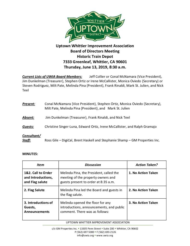 thumbnail of UWIA Board Minutes 06-13-2019 final