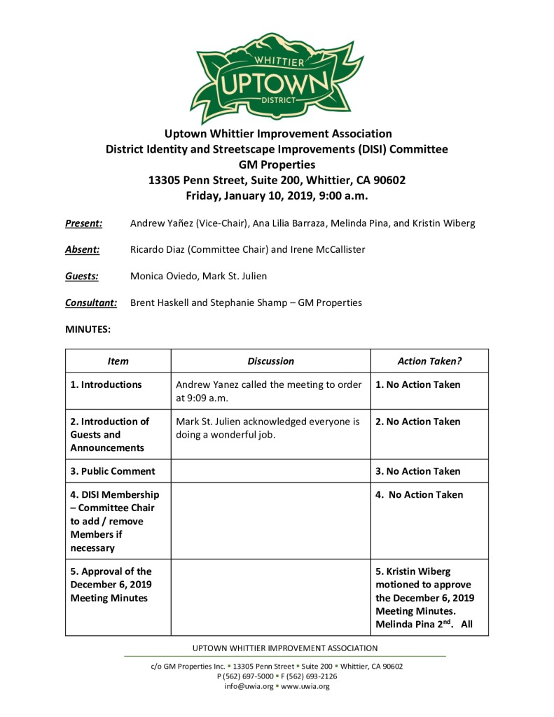 thumbnail of UWIA DISI Committee Meeting Minutes 01-10-2020 final