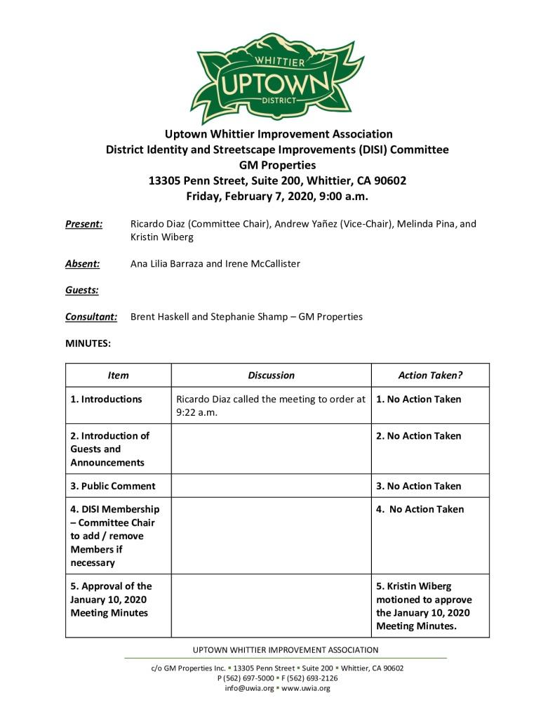 thumbnail of UWIA DISI Committee Meeting Minutes 02-07-2020 final