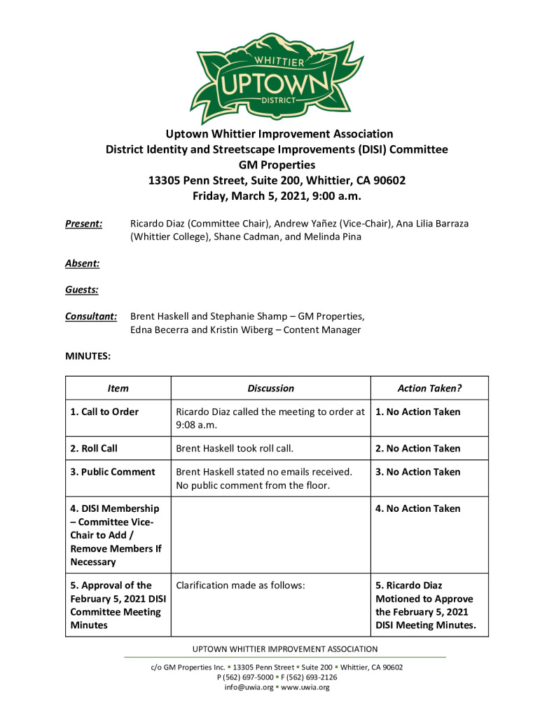 thumbnail of UWIA DISI Committee Meeting Minutes 03-05-2021 final