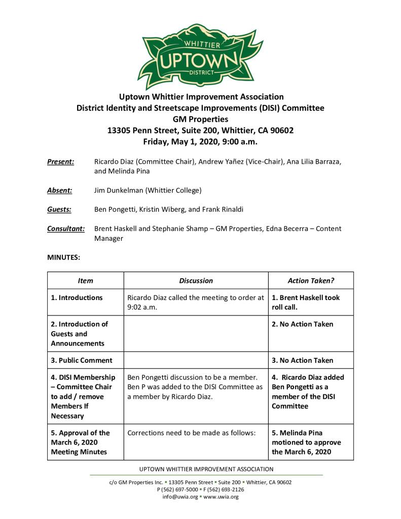 thumbnail of UWIA DISI Committee Meeting Minutes 05-01-2020 final
