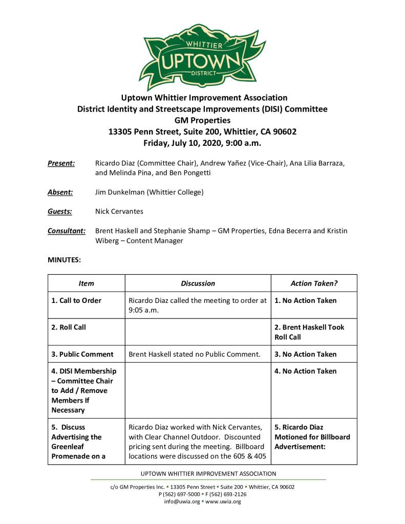 thumbnail of UWIA DISI Committee Meeting Minutes 07-10-2020 final