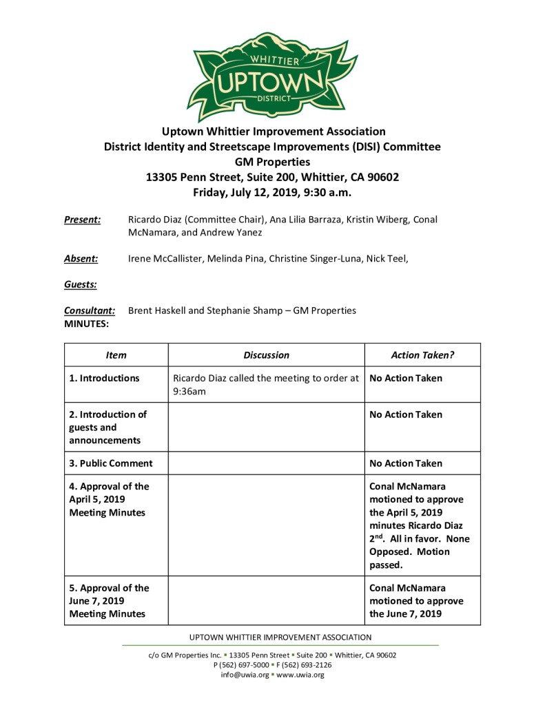 thumbnail of UWIA DISI Committee Meeting Minutes 07-12-2019 final
