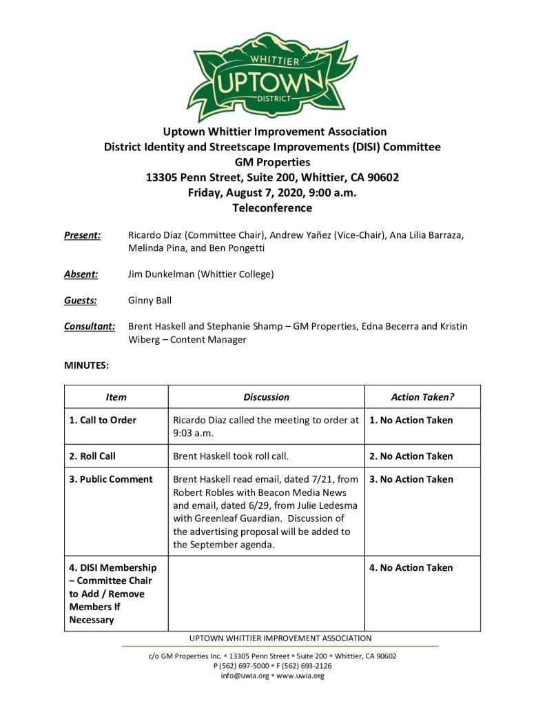 thumbnail of UWIA DISI Committee Meeting Minutes 08-07-2020 final