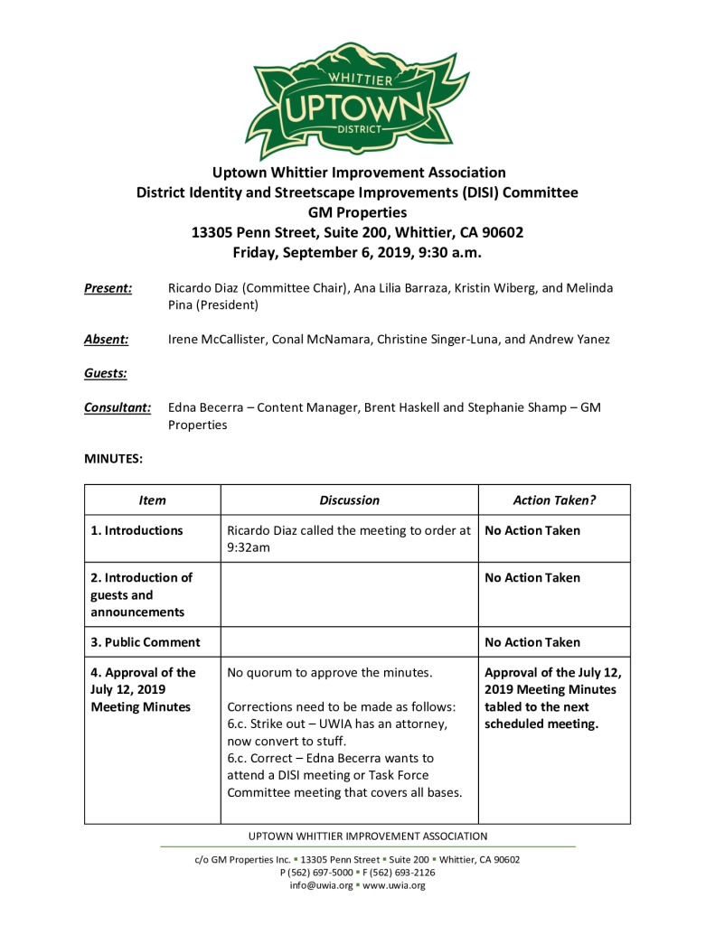 thumbnail of UWIA DISI Committee Meeting Minutes 09-06-2019 final
