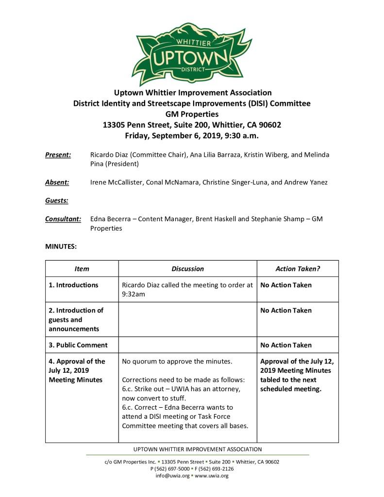 thumbnail of UWIA DISI Committee Meeting Minutes 09-06-2019 final