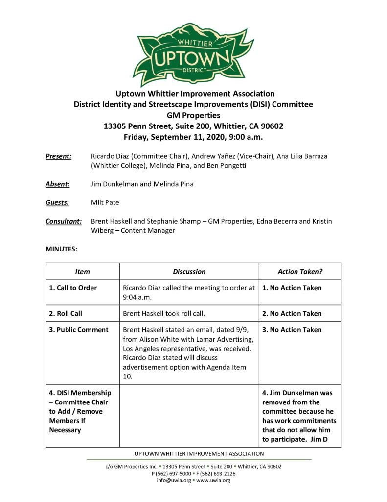 thumbnail of UWIA DISI Committee Meeting Minutes 09-11-2020 final