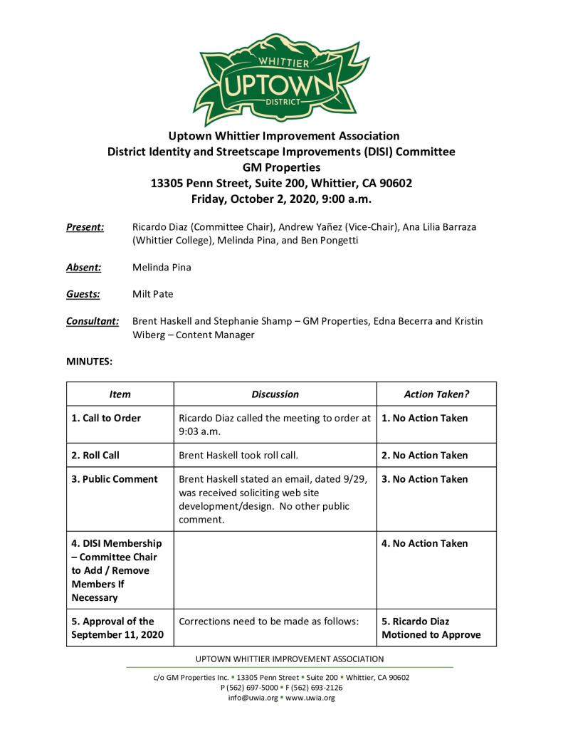 thumbnail of UWIA DISI Committee Meeting Minutes 10-02-2020 final