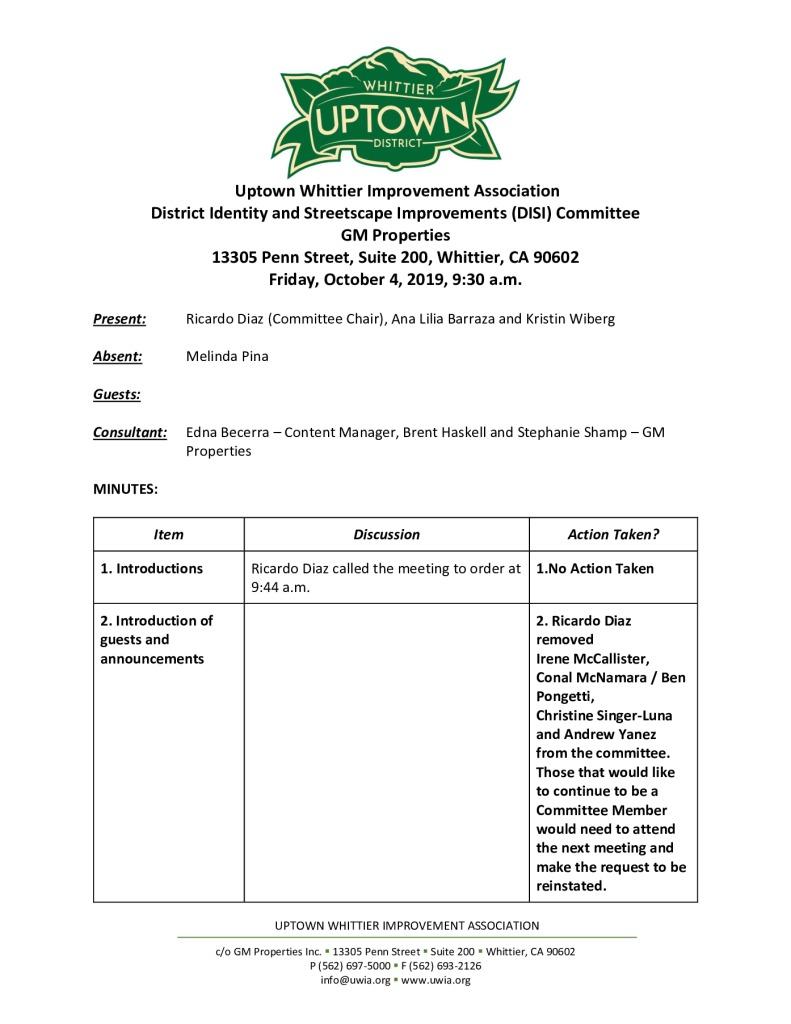 thumbnail of UWIA DISI Committee Meeting Minutes 10-04-2019 final
