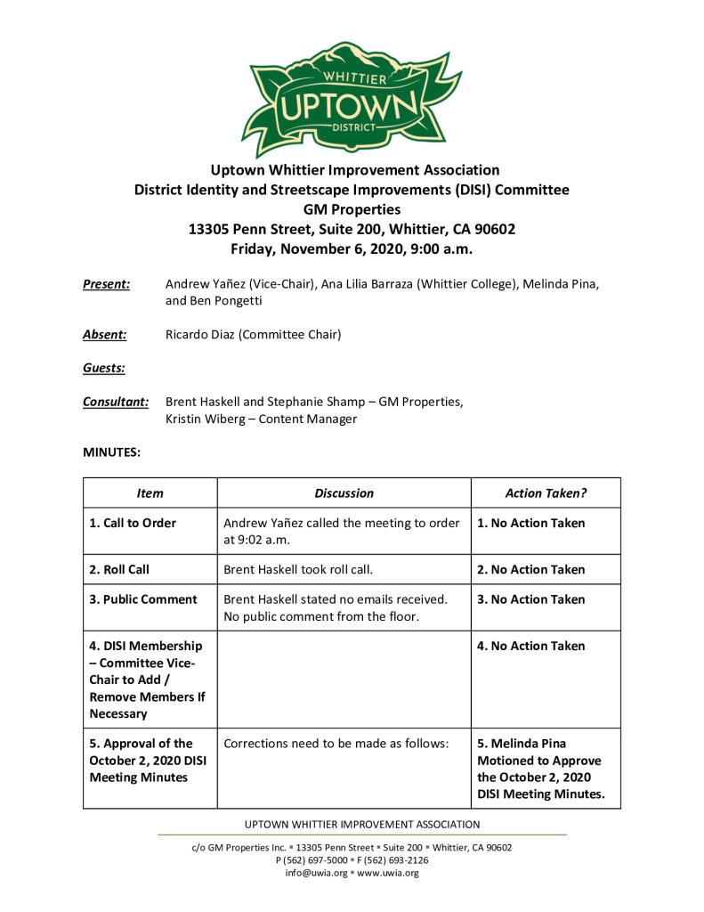 thumbnail of UWIA DISI Committee Meeting Minutes 11-06-2020 final