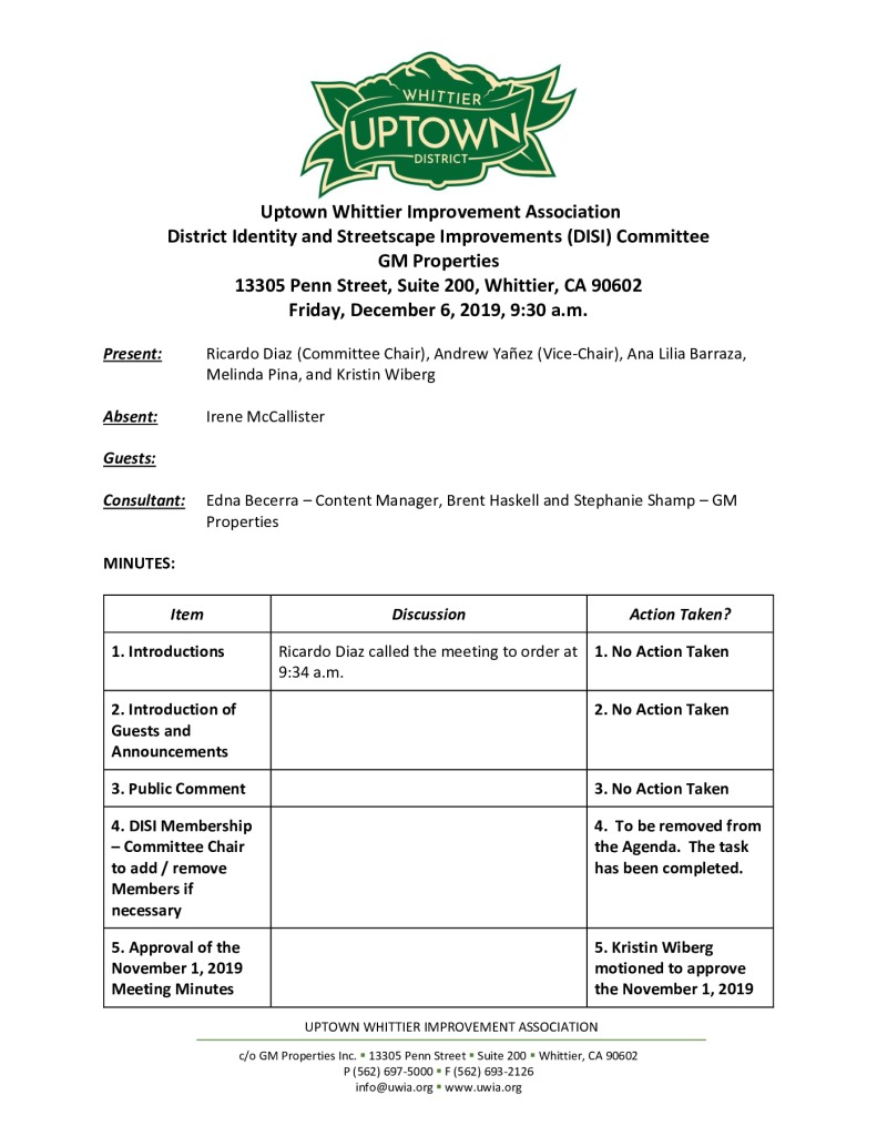 thumbnail of UWIA DISI Committee Meeting Minutes 12-06-2019 final