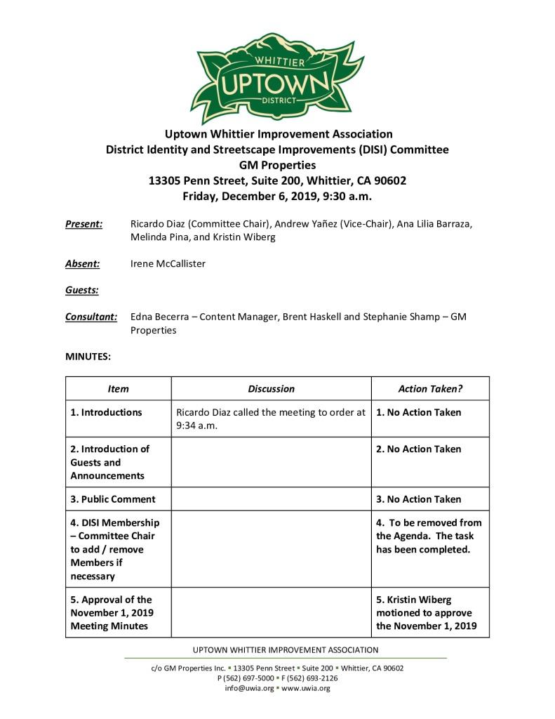 thumbnail of UWIA DISI Committee Meeting Minutes 12-06-2019 final