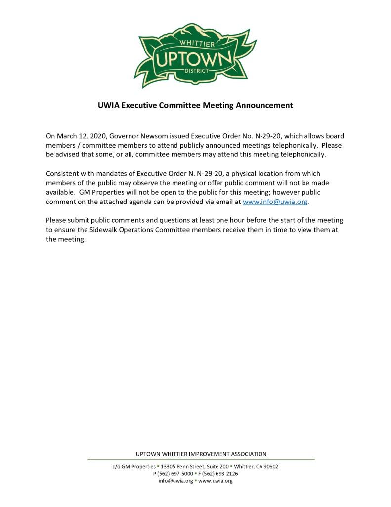 thumbnail of UWIA Executive Committee Meeting Agenda Packet 03-31-2020