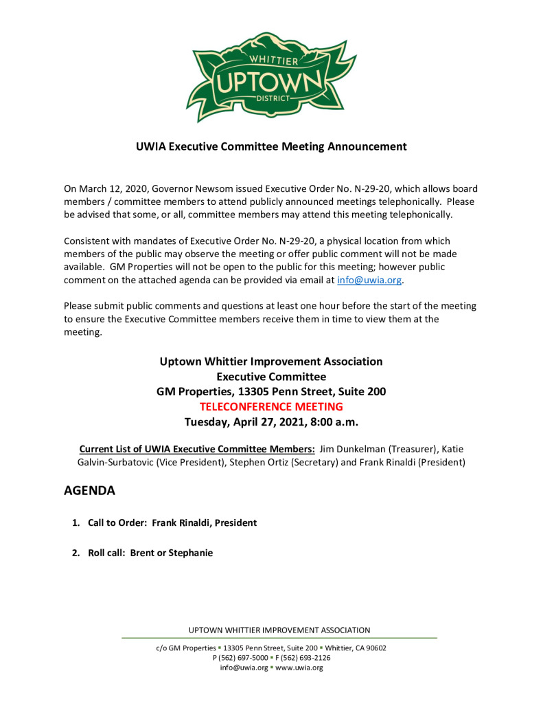 thumbnail of UWIA Executive Committee Meeting Agenda Packet 04-27-2021