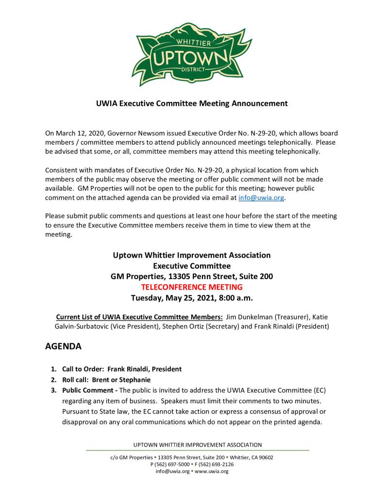 thumbnail of UWIA Executive Committee Meeting Agenda Packet 05-25-2021