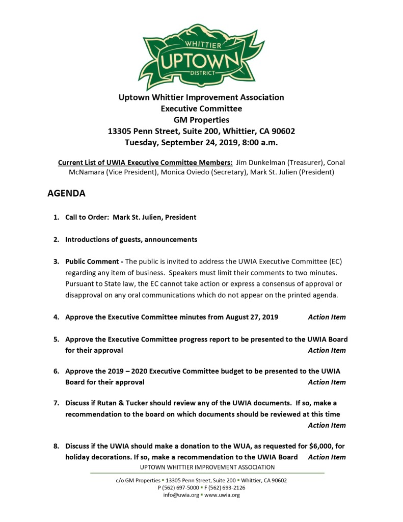 thumbnail of UWIA Executive Committee Meeting Agenda Packet 09-24-2019