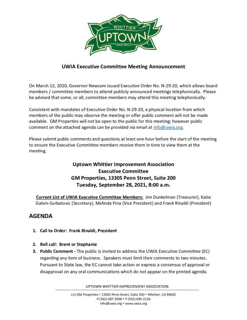 thumbnail of UWIA Executive Committee Meeting Agenda Packet 09-28-2021