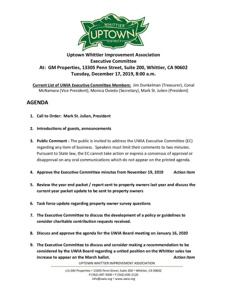 thumbnail of UWIA Executive Committee Meeting Agenda Packet 12-17-2019
