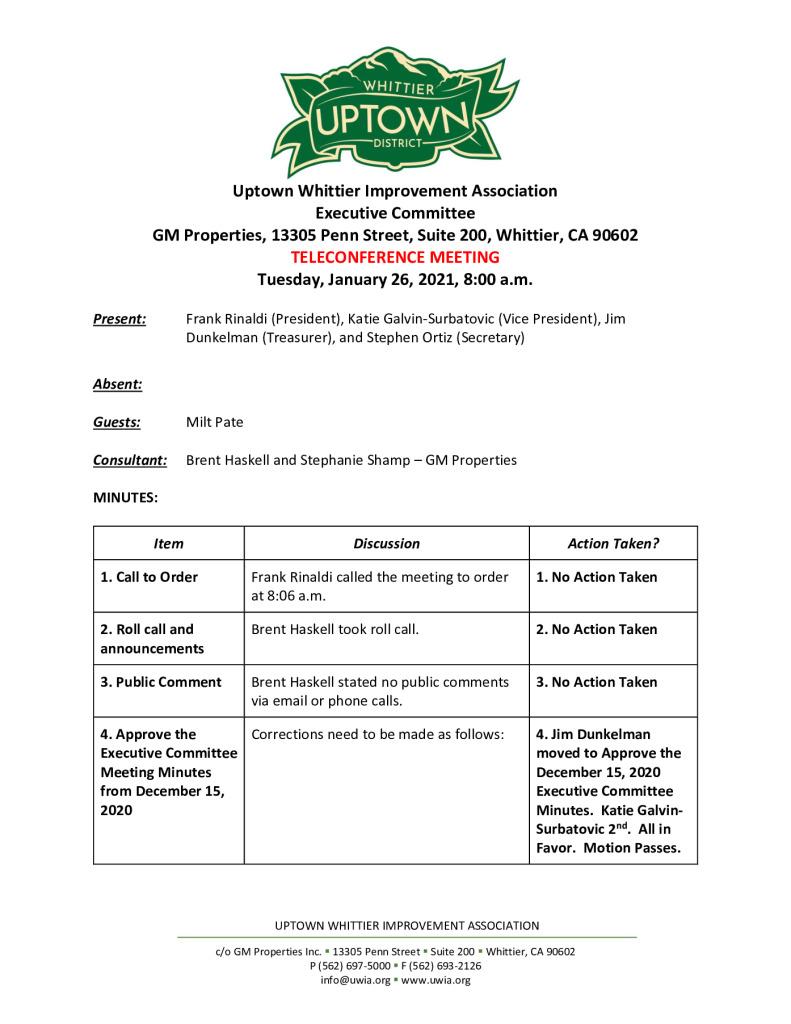 thumbnail of UWIA Executive Committee Meeting Minutes 01-26-2021 final