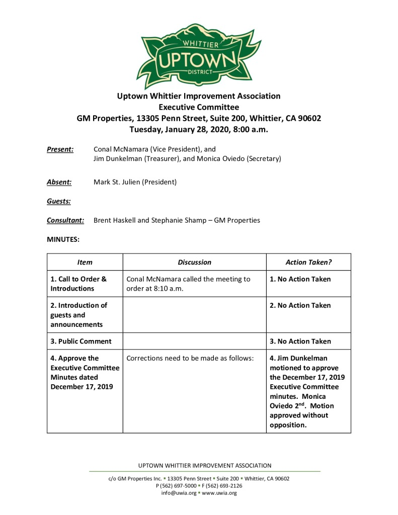 thumbnail of UWIA Executive Committee Meeting Minutes 01-28-2020 final