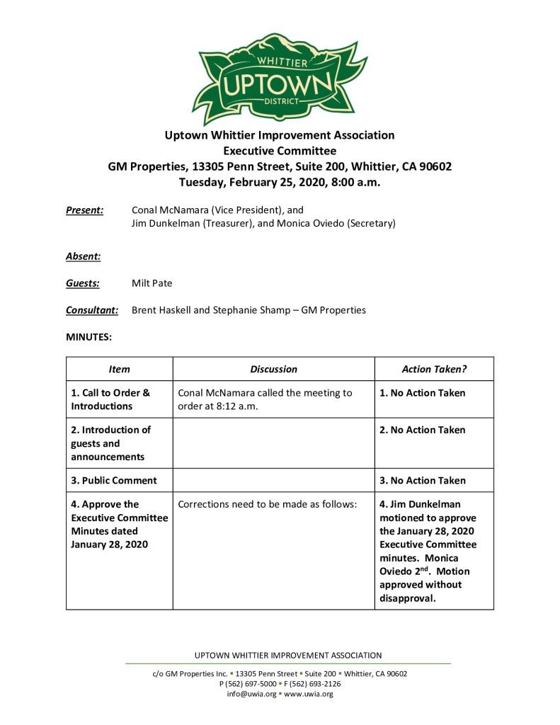thumbnail of UWIA Executive Committee Meeting Minutes 02-25-2020 final