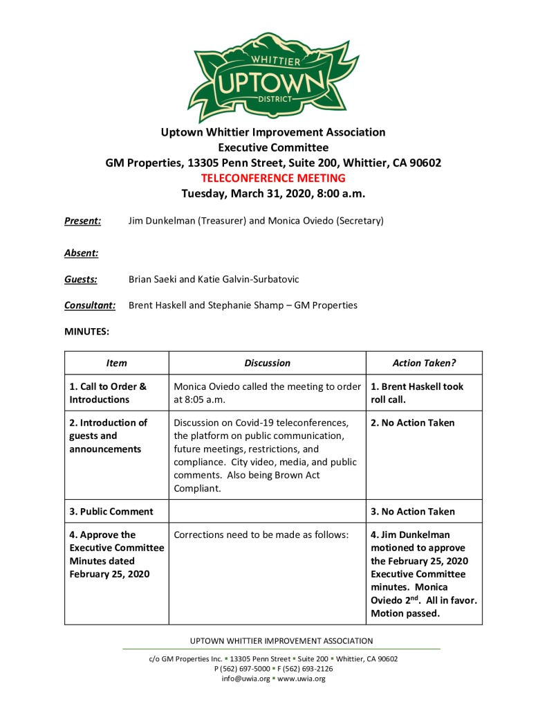 thumbnail of UWIA Executive Committee Meeting Minutes 03-31-2020 final