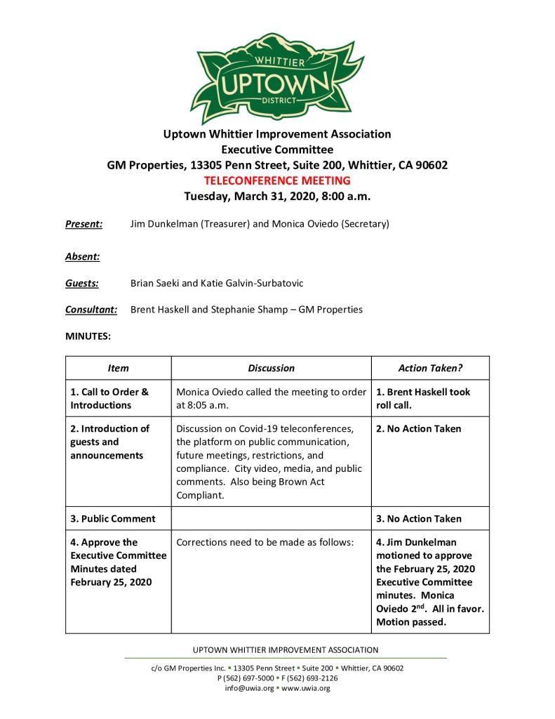 thumbnail of UWIA Executive Committee Meeting Minutes 03-31-2020 final