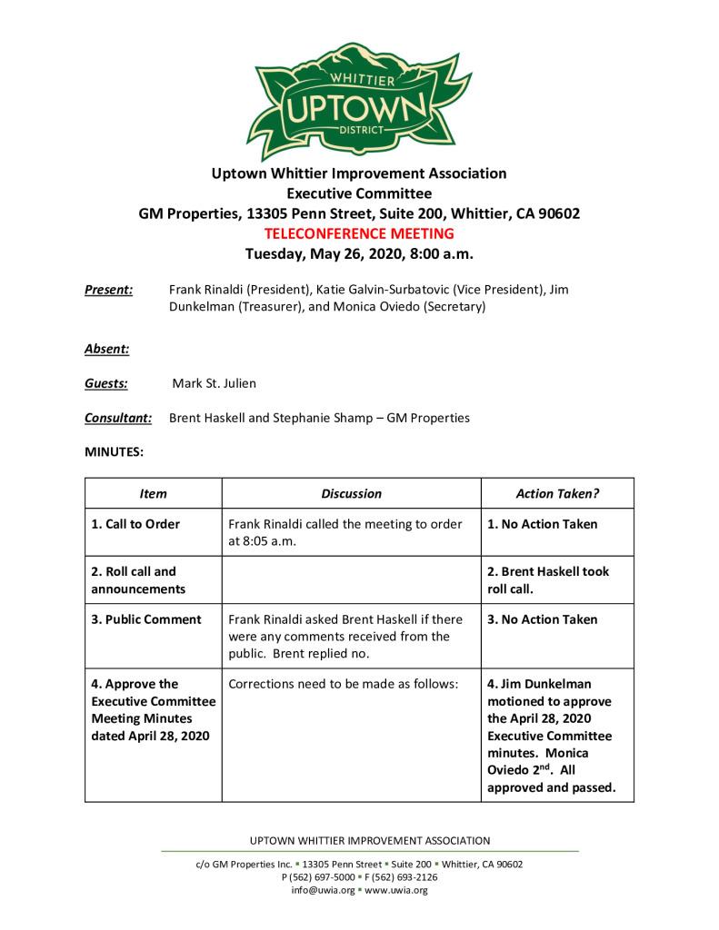 thumbnail of UWIA Executive Committee Meeting Minutes 05-26-2020 final
