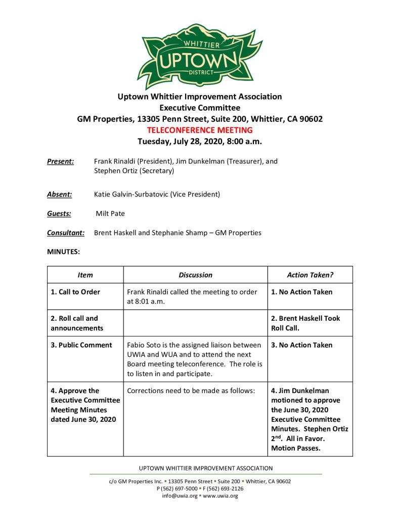 thumbnail of UWIA Executive Committee Meeting Minutes 07-28-2020 final