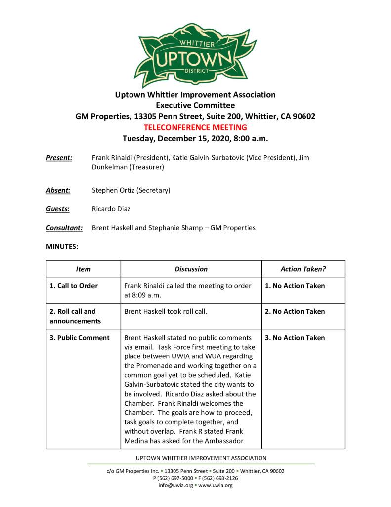 thumbnail of UWIA Executive Committee Meeting Minutes 12-15-2020 final