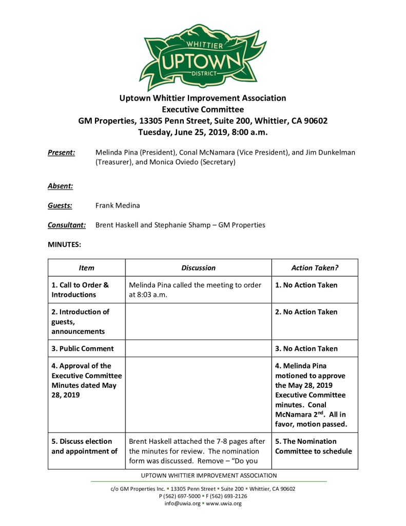 thumbnail of UWIA Executive Committee Minutes 06-25-2019 final