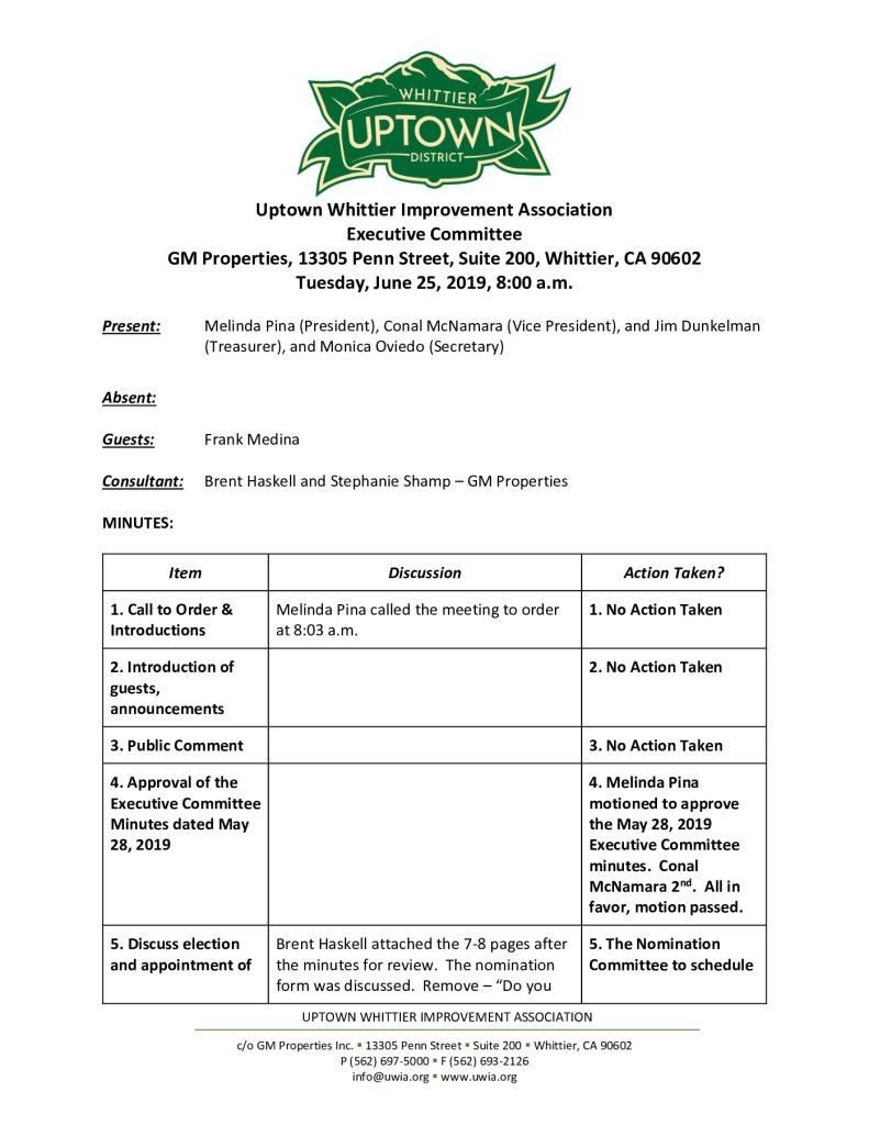 thumbnail of UWIA Executive Committee Minutes 06-25-2019 final