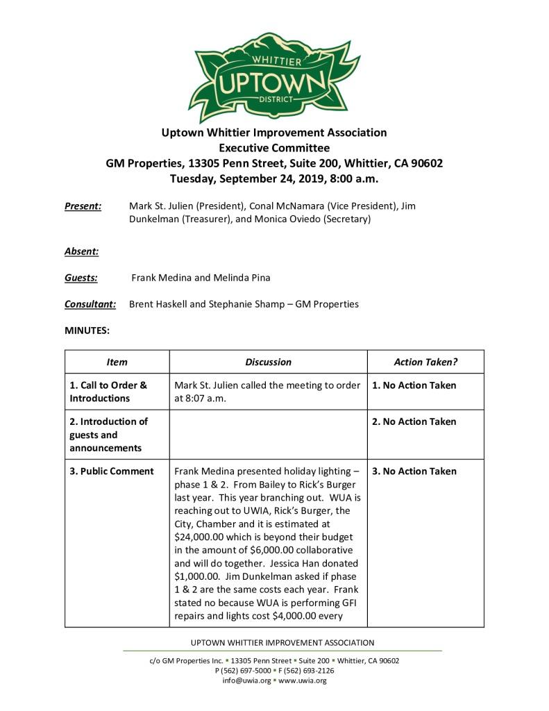 thumbnail of UWIA Executive Committee Minutes 09-24-2019 final