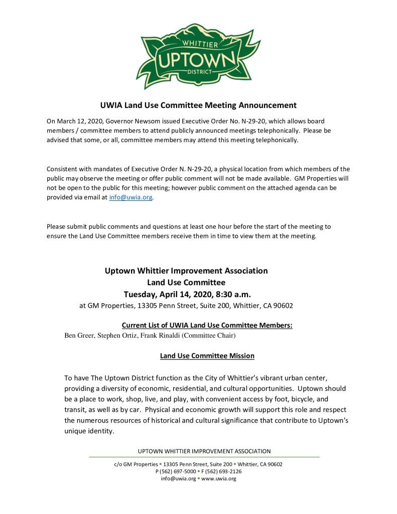 thumbnail of UWIA Land Use Committee Meeting Agenda Packet 04-14-2020