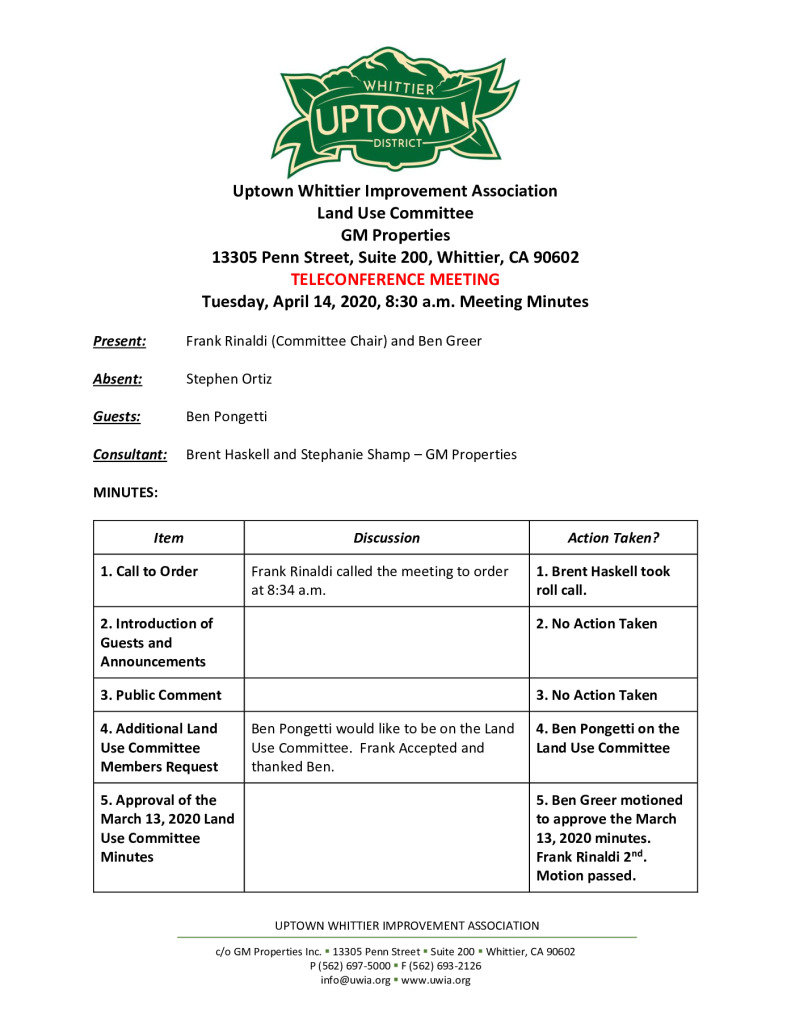 thumbnail of UWIA Land Use Committee Meeting Minutes 04-14-2020 final