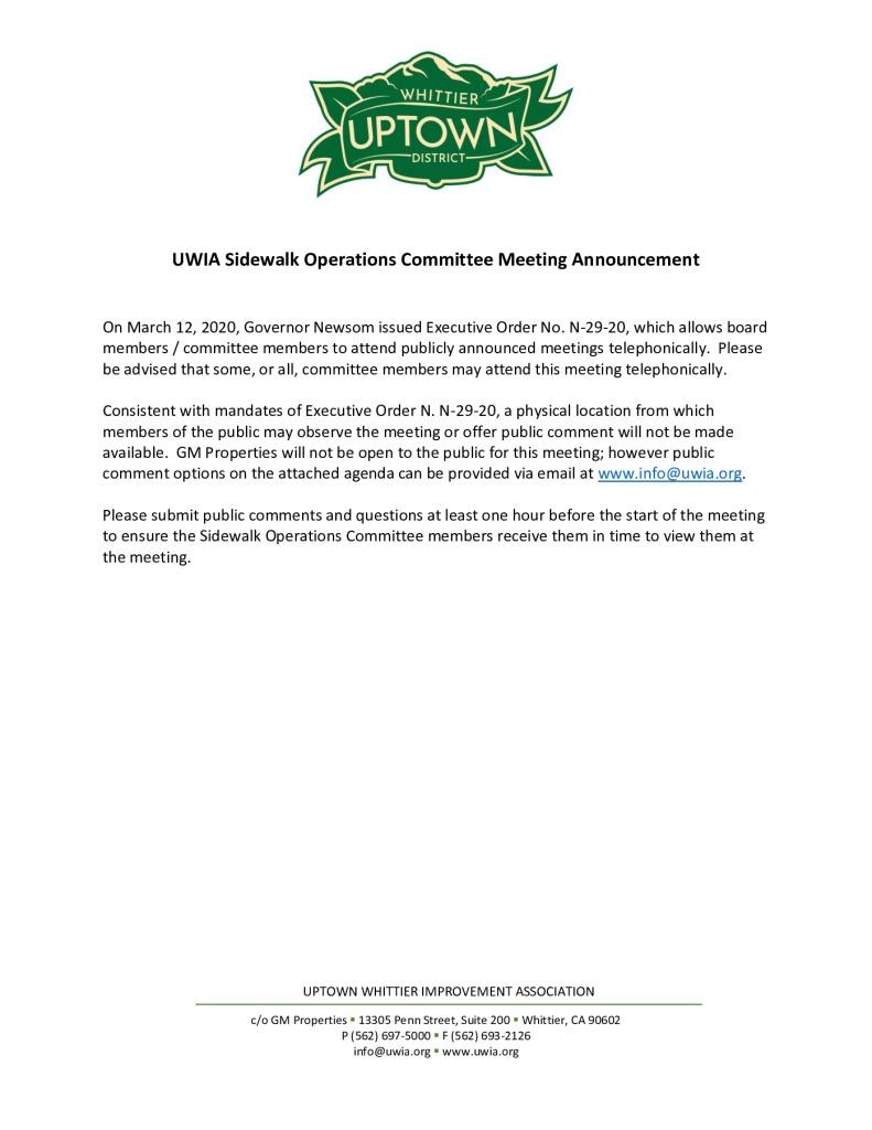 thumbnail of UWIA Sidewalk Operations Committee Meeting Agenda Packet 03-27-2020