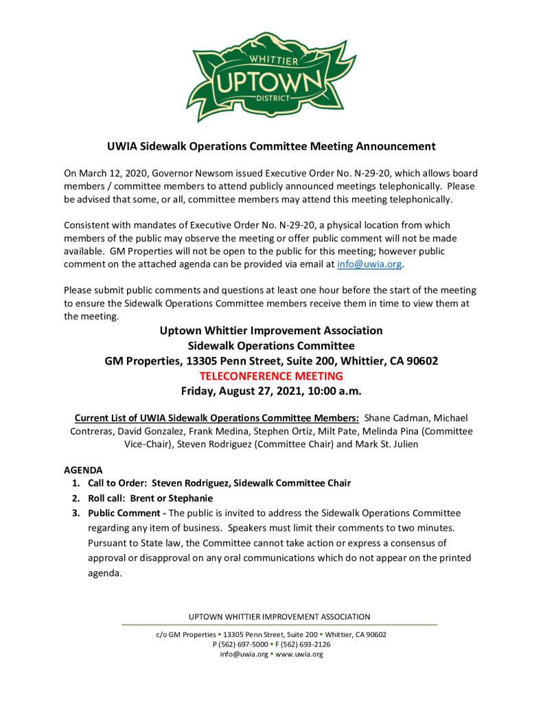thumbnail of UWIA Sidewalk Operations Committee Meeting Agenda Packet 08-27-2021 1 of 2