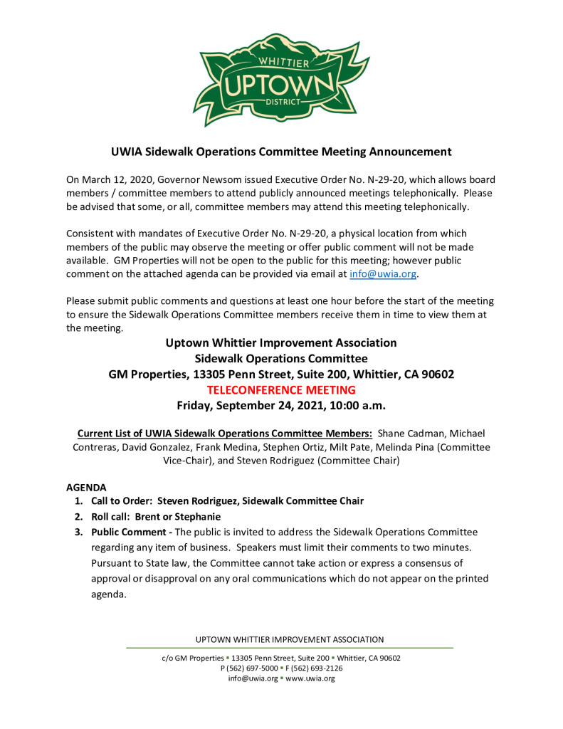 thumbnail of UWIA Sidewalk Operations Committee Meeting Agenda Packet 09-24-2021 to be emailed
