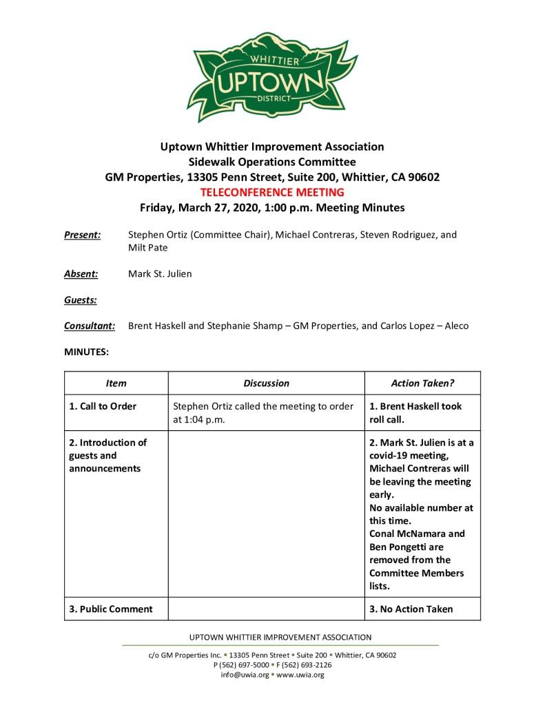 thumbnail of UWIA Sidewalk Operations Committee Meeting Minutes 03-27-2020 final