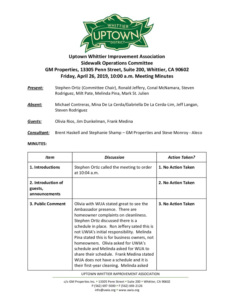 thumbnail of UWIA Sidewalk Operations Committee Meeting Minutes 04-26-2019